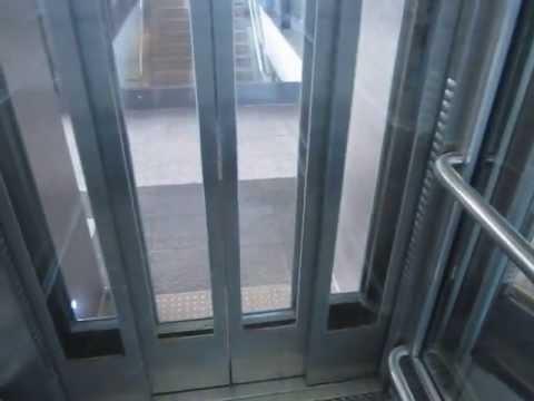 ThyssenKrupp traction glass elevator at Dammtor railway station in Hamburg (revisit)