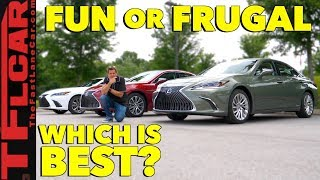 Compared: 2019 Lexus ES vs F-Sport vs Hybrid Review