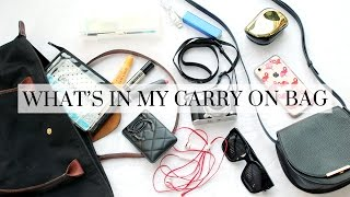 What's In My Carry On Bag, travel, carry on bag