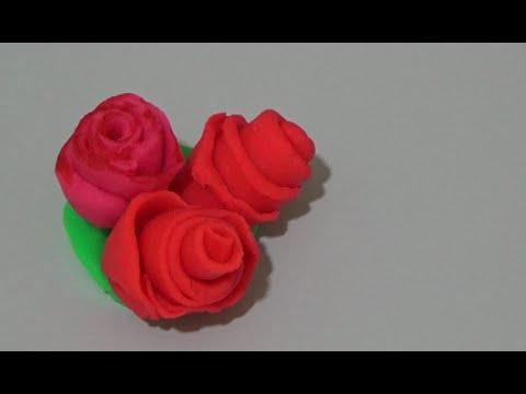 Розы из пластилина легко и быстро.Детское творчество. Play Doh. Sculpting roses.