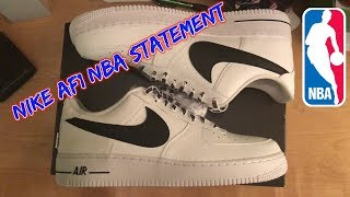 Nike Air Force 1 Low NBA Statement Unboxing, Thoughts, Cleaning