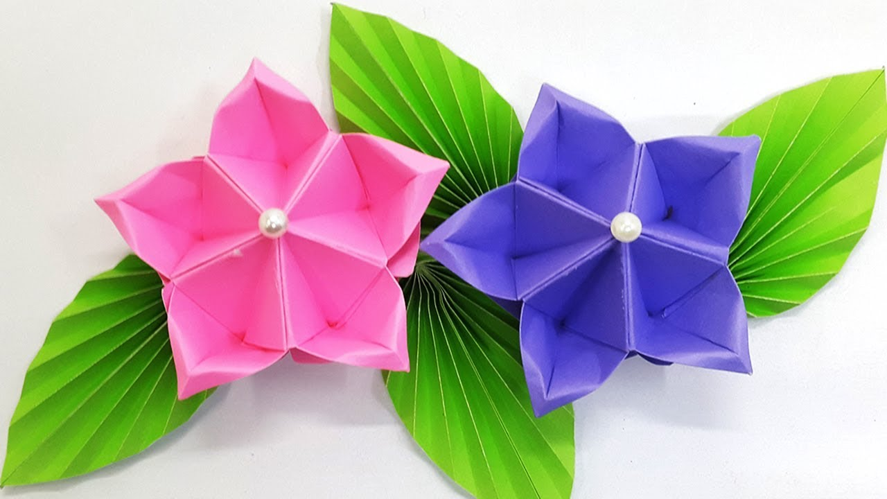 Paper Flower Tutorial Origami Flower Amazing And Easy Diy