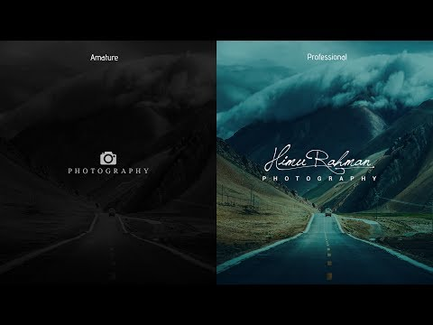 Photoshop cc tutorial: Make Your Professional Photography Signature