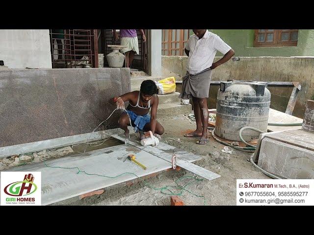 Amazing Granite Flooring Laying BY GIRI HOMES KUMBAKONAM
