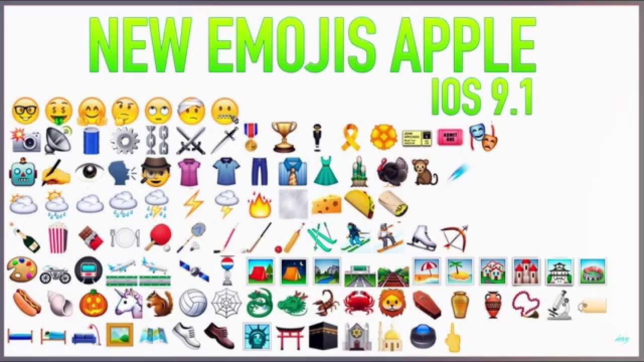 Ios 9 Emojis