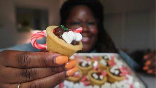 HOLIDAY MINI HOT COCOA COOKIE MUGS 먹방 EATING + RECIPE