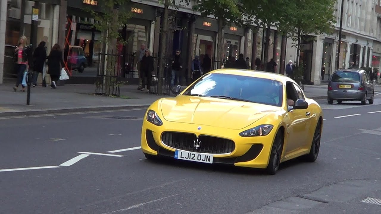 YELLOW Maserati MC Stradale - BRUTAL SOUNDS!! - YouTube