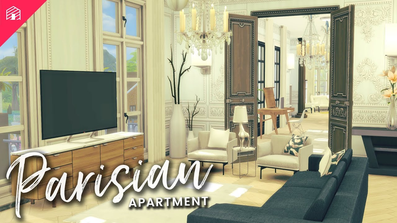 The Sims 4 Speed Build Parisian Apartment Cc Download