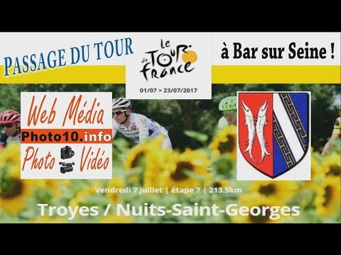 Passage du tour de France 2017 à Bar sur Seine