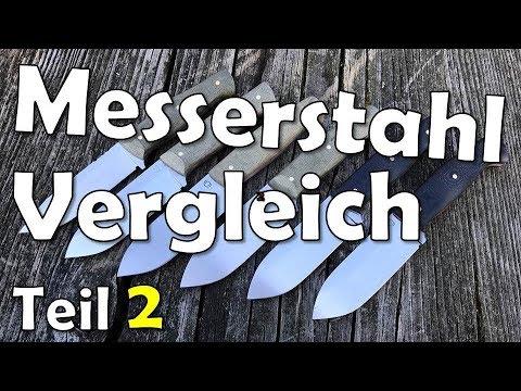 [2/2] Der BESTE Messerstahl?!?   Messerstähle Im Vergleich