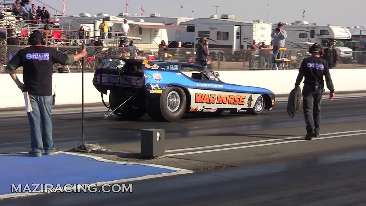 Funny Car Nostalgia Drag Racing March Meet Bakersfield Famoso Raceway 2012   Drag Strip Riot 01:39 HD