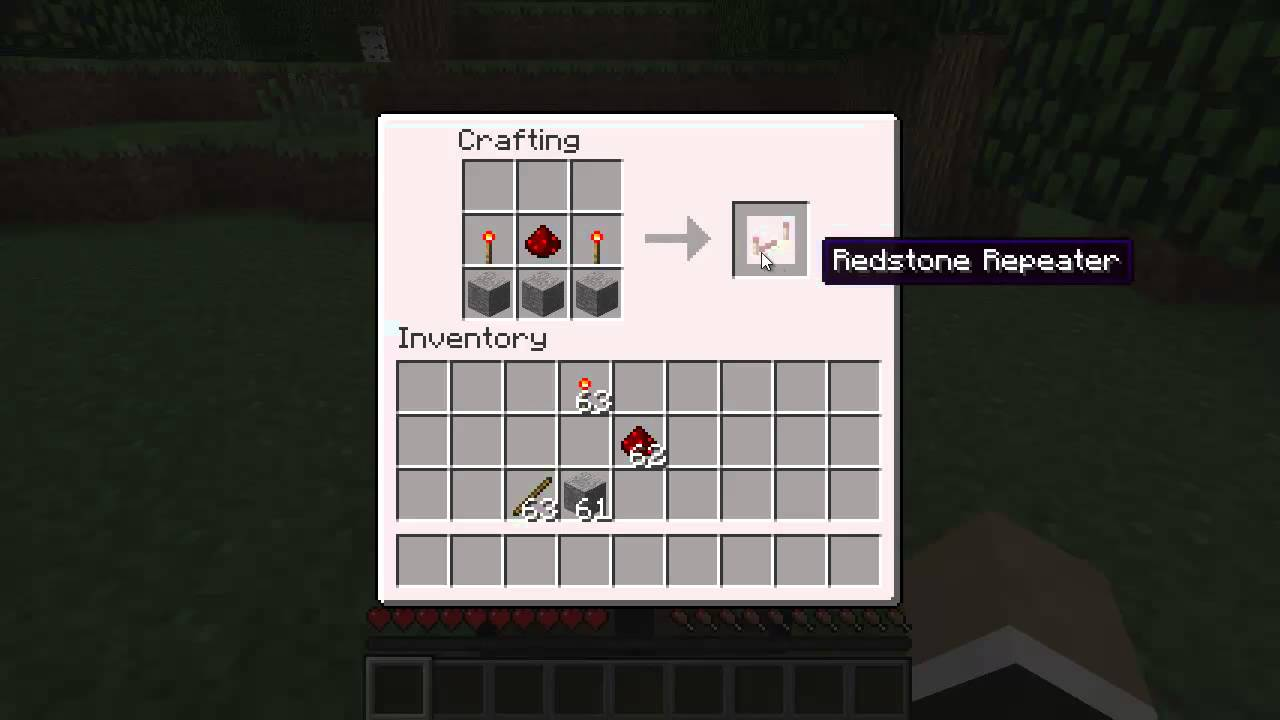 Minecraft Redstone Repeater Crafting