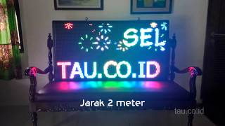 videotron led running text 128x64cm