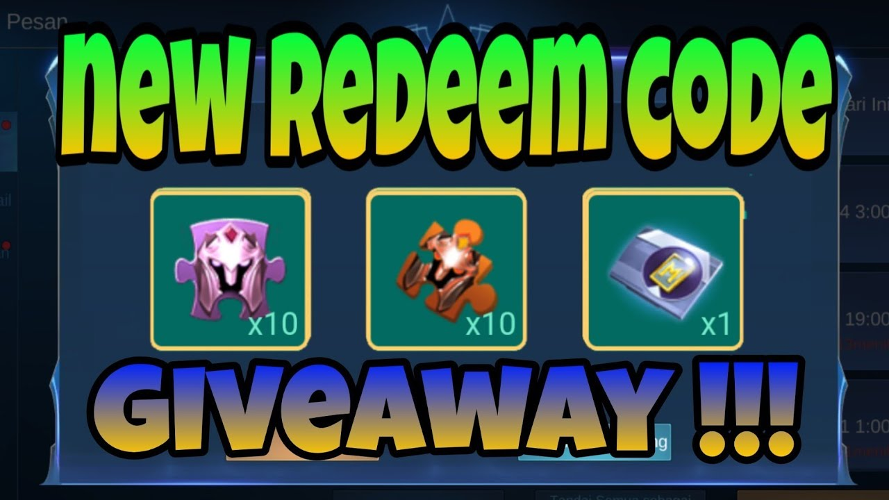 NEW REDEEM CODE MOBILE LEGENDS #4 | GIVEAWAY - YouTube