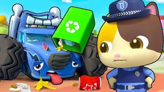 Naughty Monster Truck | Police Cartoon, Doctor Cartoon | Kids Songs | Kids Cartoon | BabyBus