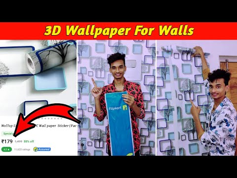 3D Wallpaper For Walls   How To Paste Self Adhesive Wallpaper PVC At Home   3D Wallpaper   WolTop