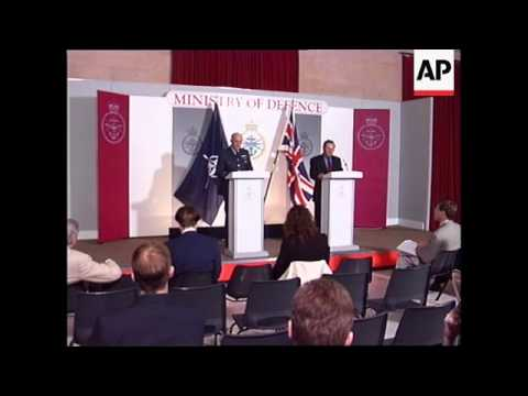 UK: KOSOVO: MINISTRY OF DEFENCE: PRESS BRIEFING