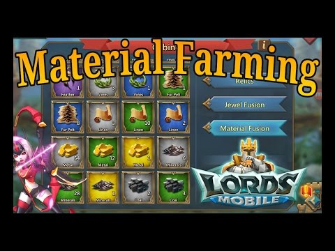 Lords Mobile Best Way To Get Materials For Relics