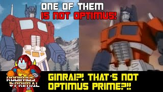 God Ginrai? Wait, that's not Optimus Prime?!