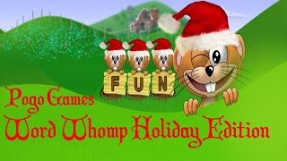 Pogo Games ~ Word Whomp Holiday Edition