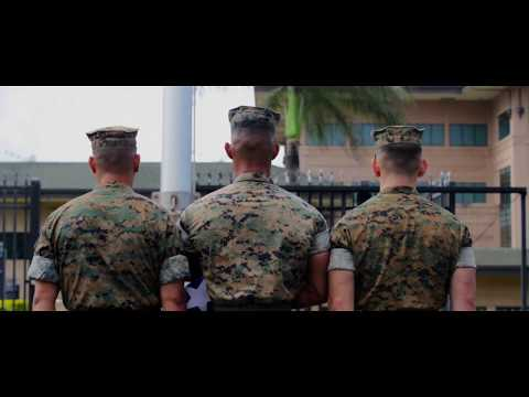 U.S. Marine Forces Pacific Color Guard Conducting Morning Colors