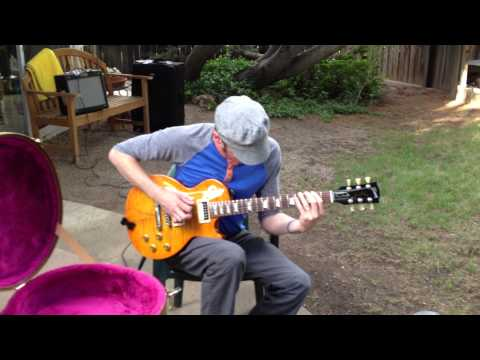 Jake Cinninger plays Gary Moore's guitar in Otis Taylor's backyard