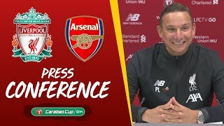 Pep Lijnders' pre-match press conference | Arsenal