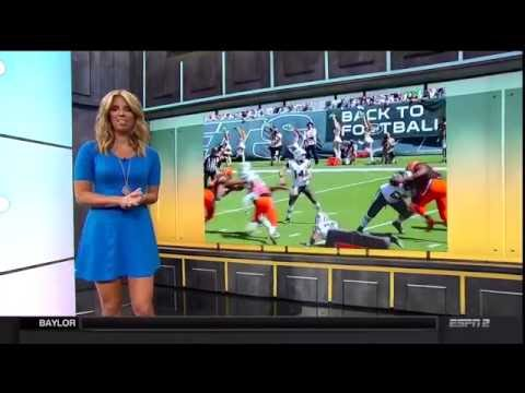 Sara Walsh really short skirt  6/18/16