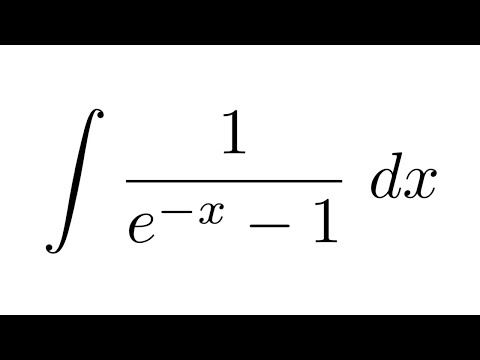 Integral of 1/(e^-x - 1) (substitution)