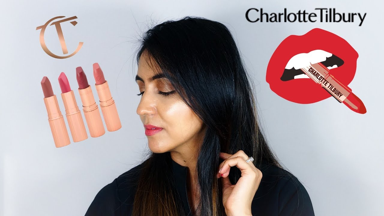 Charlotte Tilbury Lipstick Swatches For Medium/ Tan/ Indian Skin Tone