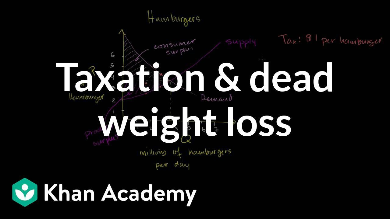 Taxation and dead weight loss | Microeconomics | Khan Academy