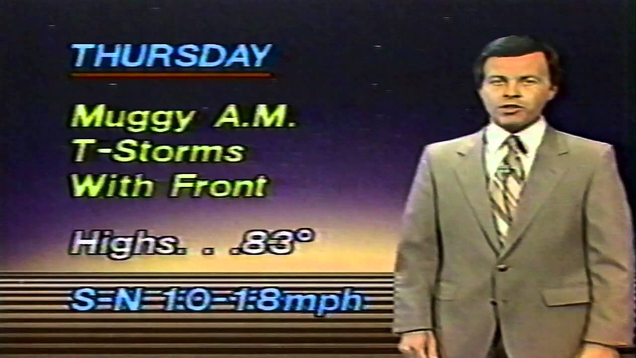 WVUE CH8 New Orleans Bob Breck Weather Forecast 1985