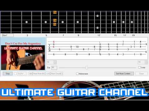 Guitar Solo Tab Dont Cry For Me Argentina Andrew Lloyd Webber
