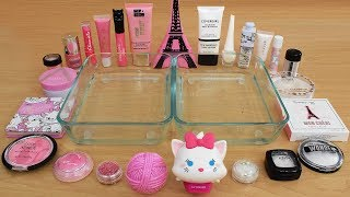 Pink vs White - Mixing Makeup Eyeshadow Into Slime Special Series 214 Satisfying Slime Video