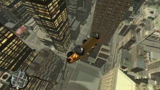 GTA IV Jump from highest buildings ! [+Bonus] *PC* [HD]