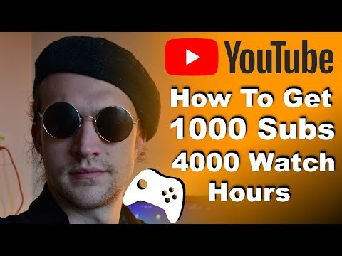 How To Get 1000 Subscribers & 4000 Watch Hours For Gaming Channels