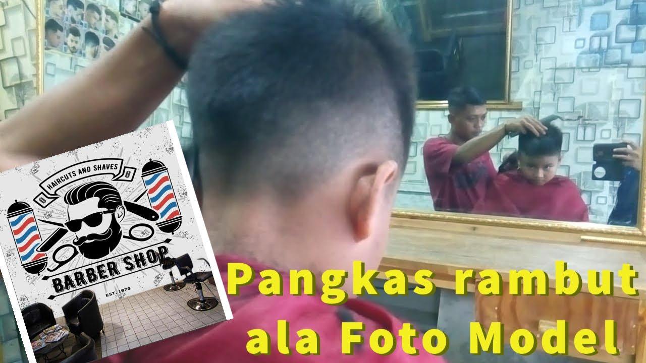 Arya Pangkas rambut di barbershop.... - YouTube