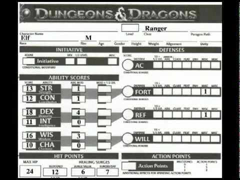 D&D: The Character Sheet