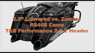 """TAB Performance 2.5"""" Louvered Baffles vs. Zombies on 114 with RS 468 Cams and 2-1-2 Open Header"""