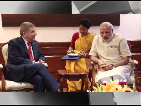 PM Modi meets IOC President Thomas Bach