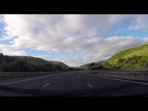 Driving from Edinburg through Scotland to London