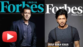 Salman Beats Shahrukh With More Earnings | Forbes India Celebrity List 2014