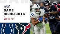 Colts vs. Texans Week 12 Highlights | NFL 2019