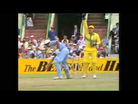 Handling the ball Out Mohinder Amarnath