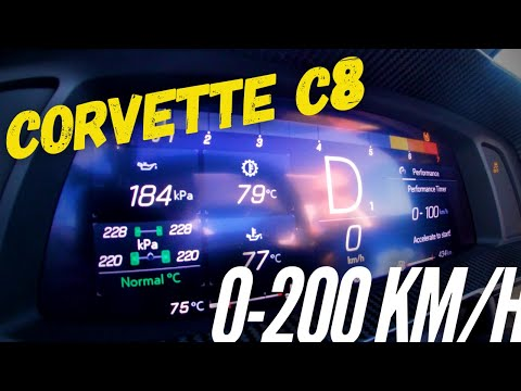 HOW FAST IS THE NEW CORVETTE C8 ? 0-200 Km/h