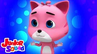 Download Mp3 Tiga anak kucing kecil Lagu anak anak Junior Squad Indonesia prasekolah Animasi