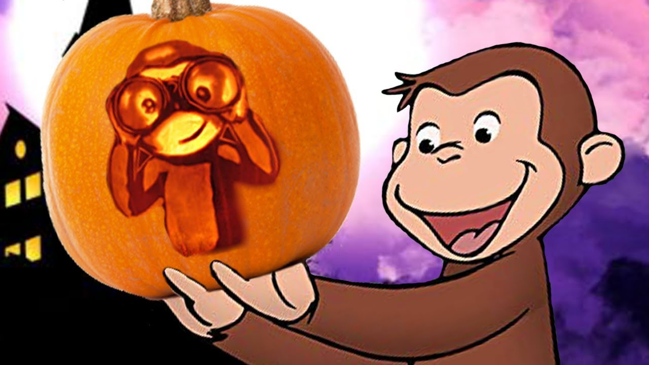 curious george 🐵👻halloween compilation - scaredy dog 🎃kids