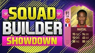 FIFA 18 SQUAD BUILDER SHOWDOWN!!! 91 RATED FUTTIES MARTIAL!!! Anthony Martial FUTTIES Winner