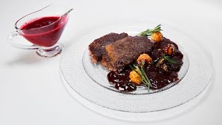 Брусничный соус и шоколадный соус к стейку | Высший пилотаж