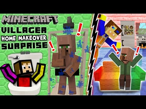 VILLAGER HOME MAKEOVER SURPRISE! Minecraft Furniture Mod Fun w/ FGTEEV Duddy & Chase (Showcase)